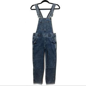 Topshop Moto Blue Slim Leg Overall Dungarees